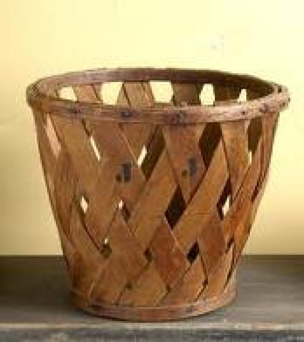 peach basket baskets antique basketball wood weaving ash slatted woven wooden pine shaker diamond construction diameter antiques pieces naismith something